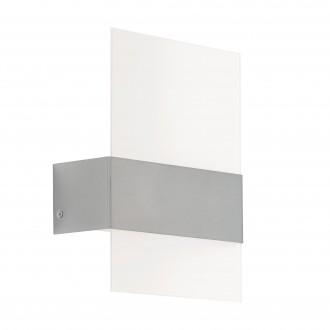 EGLO 93438 | Nadela Eglo fali lámpa 2x LED 360lm 3000K IP44 nemesacél, rozsdamentes acél, fehér