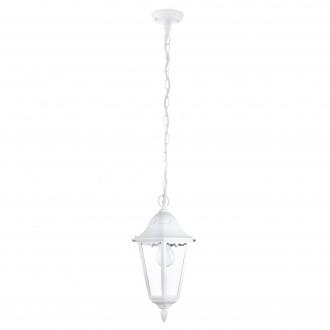 EGLO 93444 | Navedo Eglo függeszték lámpa 1x E27 IP44 fehér, áttetsző