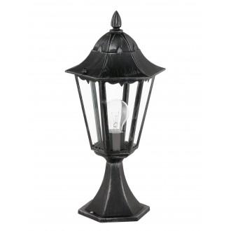 EGLO 93462 | Navedo Eglo álló lámpa 47cm 1x E27 IP44 fekete, antikolt ezüst, áttetsző