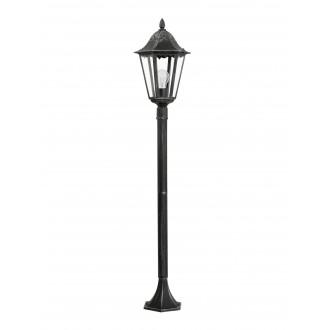 EGLO 93463 | Navedo Eglo álló lámpa 120cm 1x E27 IP44 fekete, antikolt ezüst, áttetsző