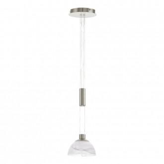 EGLO 93466 | Montefio Eglo függeszték lámpa ellensúlyos, állítható magasság 1x LED 460lm 3000K matt nikkel, fehér