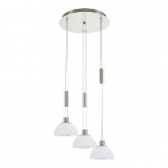 EGLO 93467 | Montefio Eglo függeszték lámpa ellensúlyos, állítható magasság 3x LED 1380lm 3000K matt nikkel, fehér