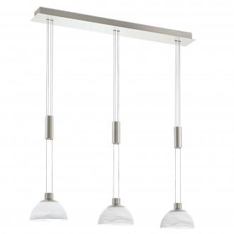 EGLO 93468 | Montefio Eglo függeszték lámpa ellensúlyos, állítható magasság 3x LED 1380lm 3000K matt nikkel, fehér