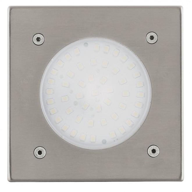 EGLO 93481 | Lamedo Eglo beépíthető lámpa 100x100mm 1x LED 180lm 3000K IP67/65 IK09 nemesacél, rozsdamentes acél, opál
