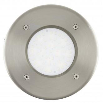EGLO 93482 | Lamedo Eglo beépíthető lámpa Ø102mm 1x LED 180lm 3000K IP67/65 IK09 nemesacél, rozsdamentes acél, opál