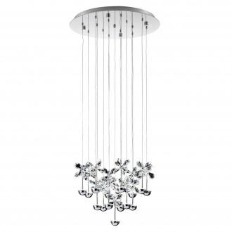 EGLO 93662 | Pianopoli Eglo függeszték lámpa 15x LED 4050lm 3000K króm, áttetsző