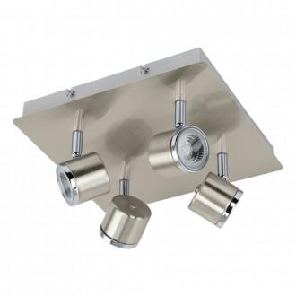 EGLO 93696 | Pierino Eglo spot lámpa elforgatható alkatrészek 4x LED 1920lm 3000K matt nikkel, króm