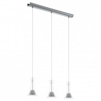 EGLO 93793   Musero Eglo függeszték lámpa 3x LED 1530lm 3000K matt nikkel, átlátszó