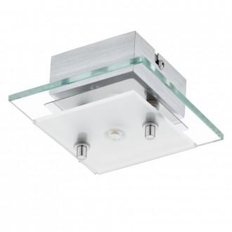 EGLO 93884 | Fres_LED Eglo fali, mennyezeti lámpa 1x LED 510lm 3000K króm, fehér, átlátszó