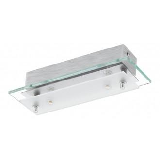 EGLO 93885 | Fres_LED Eglo fali, mennyezeti lámpa 2x LED 1020lm 3000K króm, fehér, átlátszó