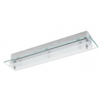 EGLO 93886 | Fres_LED Eglo fali, mennyezeti lámpa 3x LED 1530lm 3000K króm, fehér, átlátszó