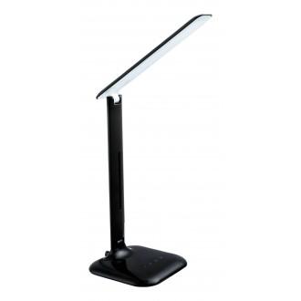 EGLO 93966 | Caupo Eglo asztali lámpa 55cm fényerőszabályzós érintőkapcsoló állítható színhőmérséklet, elforgatható alkatrészek 1x LED 280lm 2700 <-> 5000K fekete, fehér