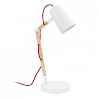 EGLO 94033 | Torona Eglo asztali lámpa 54cm vezeték kapcsoló elforgatható alkatrészek 1x E27 natúr, fehér, piros