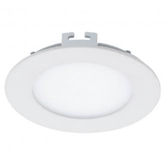 EGLO 94048 | Fueva-1 Eglo beépíthető LED panel kerek szabályozható fényerő Ø120mm 1x LED 600lm 3000K fehér