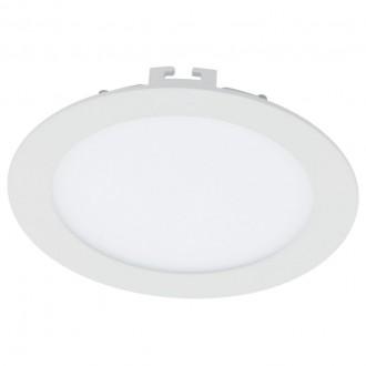 EGLO 94056 | Fueva-1 Eglo beépíthető LED panel kerek szabályozható fényerő Ø170mm 1x LED 1200lm 3000K fehér
