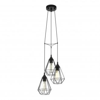 EGLO 94191 | Tarbes Eglo függeszték lámpa 3x E27 fekete
