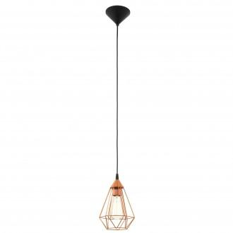 EGLO 94193 | Tarbes Eglo függeszték lámpa 1x E27 vörösréz, fekete
