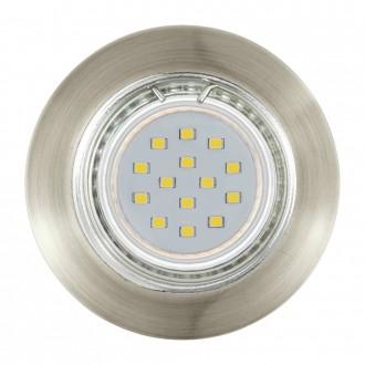 EGLO 94238 | Peneto Eglo beépíthető lámpa kerek 3 darabos szett Ø78mm 3x GU10 600lm 3000K bronz