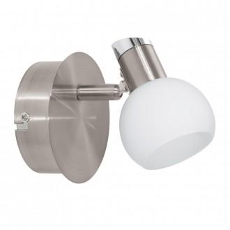 EGLO 94253 | Sesto_2 Eglo fali, mennyezeti lámpa elforgatható alkatrészek 1x LED 340lm 3000K matt nikkel, króm, fehér