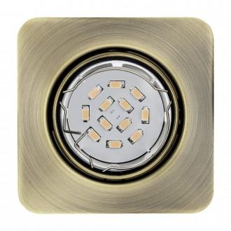 EGLO 94269 | Peneto Eglo beépíthető lámpa négyzet 3 darabos szett, billenthető 87x87mm 3x GU10 1200lm 3000K bronz