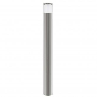 EGLO 94279   Basalgo-1 Eglo álló lámpa 105cm 1x LED 320lm 3000K IP44 nemesacél, rozsdamentes acél, áttetsző, fehér