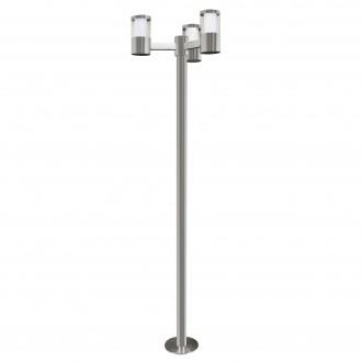 EGLO 94281 | Basalgo-1 Eglo álló lámpa 190cm 3x LED 960lm 3000K IP44 nemesacél, rozsdamentes acél, áttetsző, fehér