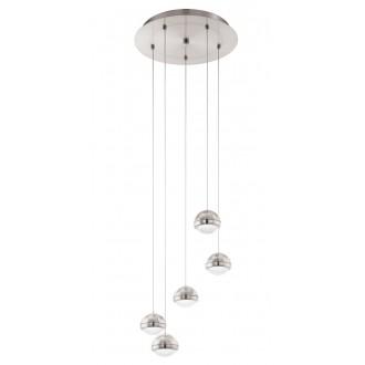 EGLO 94301   Lombes Eglo függeszték lámpa 5x LED 2400lm 3000K matt nikkel, áttetsző