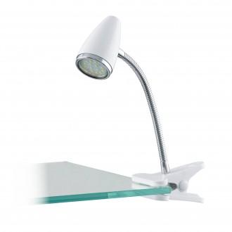 EGLO 94329 | Riccio-1 Eglo csiptetős lámpa vezeték kapcsoló 1x GU10 240lm 3000K ezüst, króm, fehér