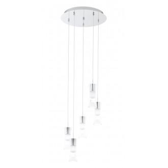 EGLO 94359   Pancento_2 Eglo függeszték lámpa 5x LED 2400lm 3000K króm, fehér, átlátszó