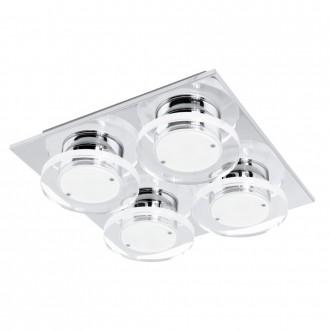 EGLO 94486 | Cisterno Eglo fali, mennyezeti lámpa 4x LED 1920lm 3000K króm, szatén, áttetsző