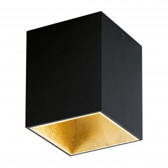 EGLO 94497 | Polasso Eglo mennyezeti lámpa kocka 1x LED 340lm 3000K fekete, arany