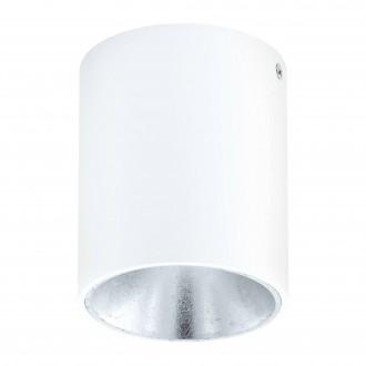 EGLO 94504 | Polasso Eglo mennyezeti lámpa henger 1x LED 340lm 3000K fehér, ezüst