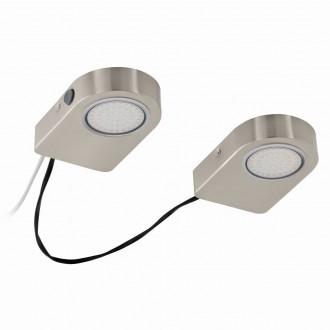 EGLO 94514 | Lavaio Eglo pultmegvilágító lámpa kapcsoló vezetékkel, villásdugóval elátott 2x LED 560lm 3000K matt nikkel
