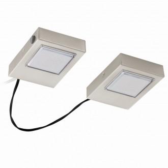 EGLO 94516 | Lavaio Eglo pultmegvilágító lámpa kapcsoló vezetékkel, villásdugóval elátott 2x LED 560lm 3000K matt nikkel