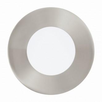 EGLO 94518 | Fueva_1 Eglo beépíthető LED panel kerek Ø85mm 1x LED 300lm 3000K matt nikkel, fehér