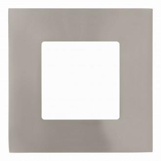 EGLO 94519 | Fueva-1 Eglo beépíthető LED panel négyzet 85x85mm 1x LED 300lm 3000K matt nikkel, fehér