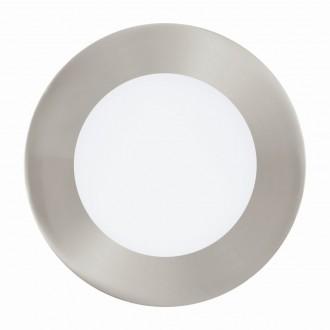 EGLO 94521 | Fueva_1 Eglo beépíthető LED panel kerek Ø120mm 1x LED 600lm 3000K matt nikkel, fehér