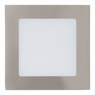 EGLO 94522 | Fueva-1 Eglo beépíthető LED panel négyzet 120x120mm 1x LED 600lm 3000K matt nikkel, fehér