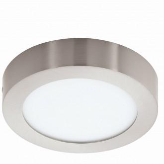 EGLO 94523 | Fueva_1 Eglo mennyezeti LED panel kerek 1x LED 1200lm 3000K matt nikkel, fehér