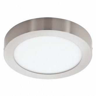 EGLO 94525 | Fueva_1 Eglo mennyezeti LED panel kerek 1x LED 1600lm 3000K matt nikkel, fehér