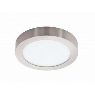 EGLO 94527 | Fueva_1 Eglo mennyezeti LED panel kerek 1x LED 2200lm 3000K matt nikkel, fehér