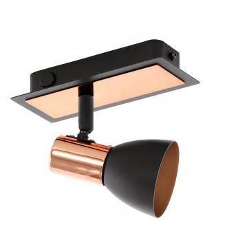EGLO 94584 | Barnham Eglo spot lámpa kapcsoló elforgatható alkatrészek 1x GU10 240lm 3000K fekete, sárgaréz