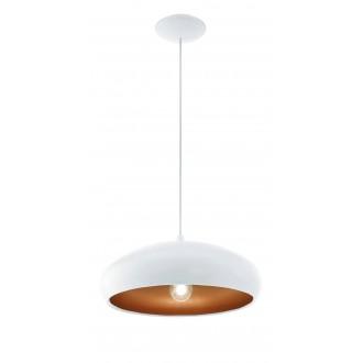 EGLO 94606 | Mogano Eglo függeszték lámpa 1x E27 fehér, sárgaréz