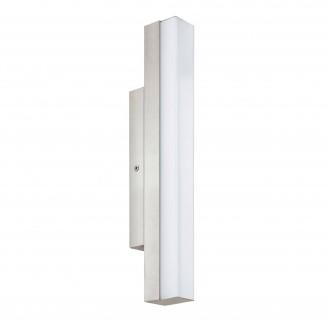 EGLO 94616 | Torretta Eglo falikar lámpa 1x LED 770lm 4000K IP44 matt nikkel, fehér