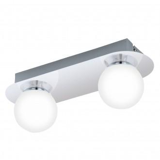 EGLO 94627 | Mosiano Eglo fali, mennyezeti lámpa 2x LED 680lm 3000K IP44 króm, fehér