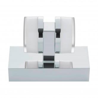 EGLO 94651 | Romendo Eglo falikar lámpa 2x LED 960lm 3000K IP44 króm, fehér, áttetsző