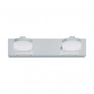 EGLO 94652 | Romendo Eglo falikar lámpa 2x LED 960lm 3000K IP44 króm, fehér, áttetsző