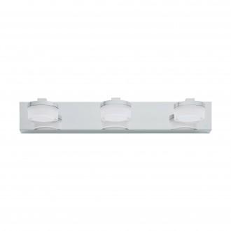 EGLO 94653 | Romendo Eglo falikar lámpa 3x LED 1440lm 3000K IP44 króm, fehér, áttetsző