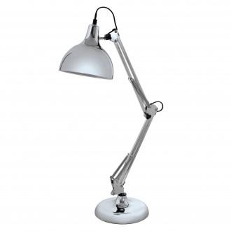 EGLO 94702   Borgillio Eglo asztali lámpa 71cm vezeték kapcsoló elforgatható alkatrészek 1x E27 króm, fekete