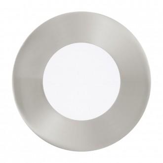 EGLO 94734 | Fueva-1 Eglo beépíthető LED panel kerek 3 darabos szett Ø85mm 3x LED 900lm 3000K matt nikkel, opál